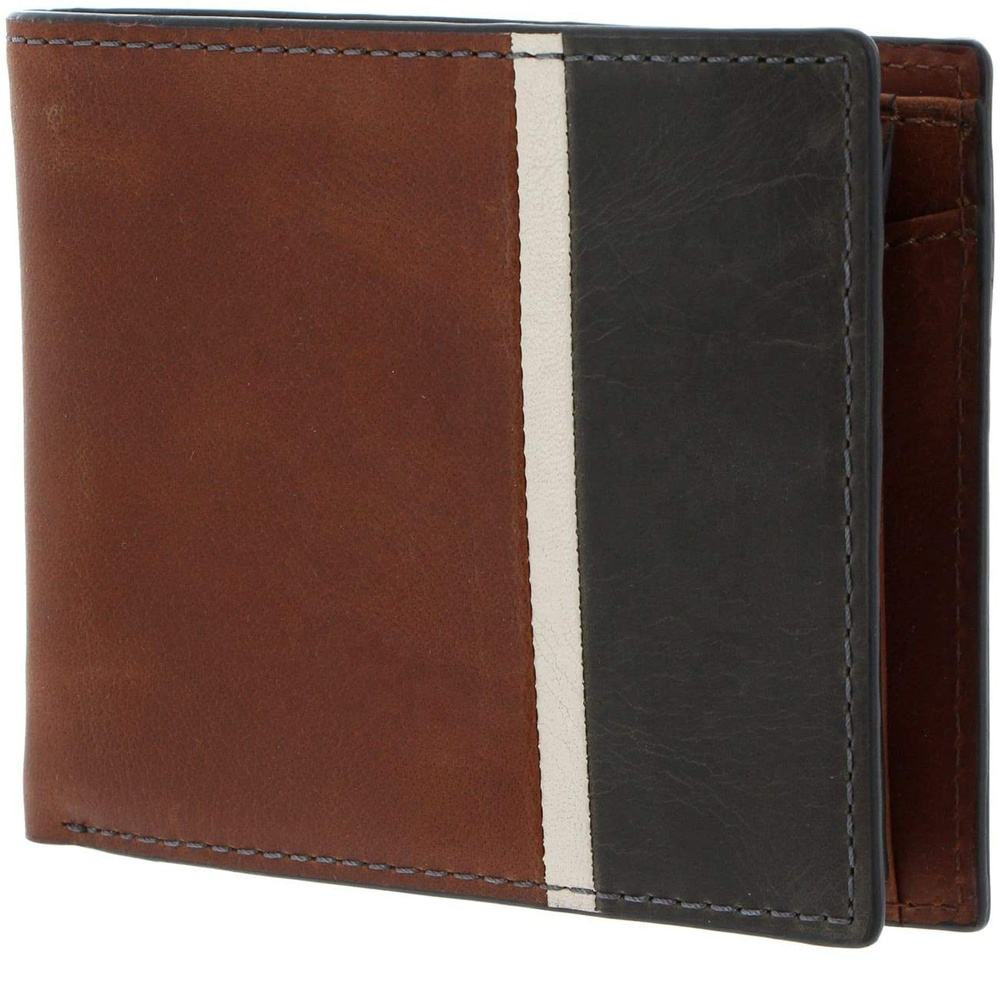 Hand Stitching Men pure Leather Bi-fold Wallet, ID card, Credit card holder RFID Blocking Stylish with coin pocket