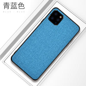 2019 NEW Mobile Phone Accessories Shockproof Armor Cover TPU Canvas Cell Phone Case For iPhone 11 Pro Max