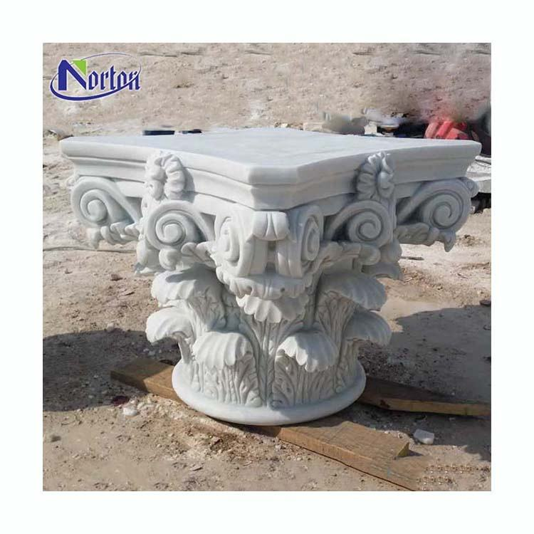 Custom size home building decor stone roman column capital marble corinthian capital pillar for sale