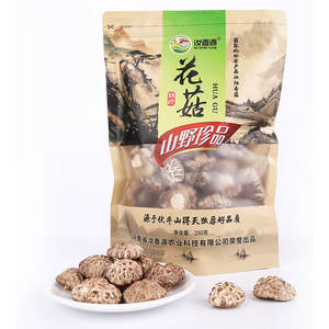 White natural cracks Fresh Dry Organic Flower Shiitake Mushroom with rich nutrition