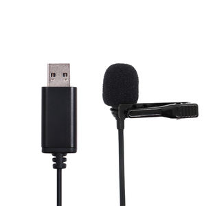 Antibruit condenseur studio d'enregistrement revers cravate clip d'usb micro col micro pour ordinateur portable