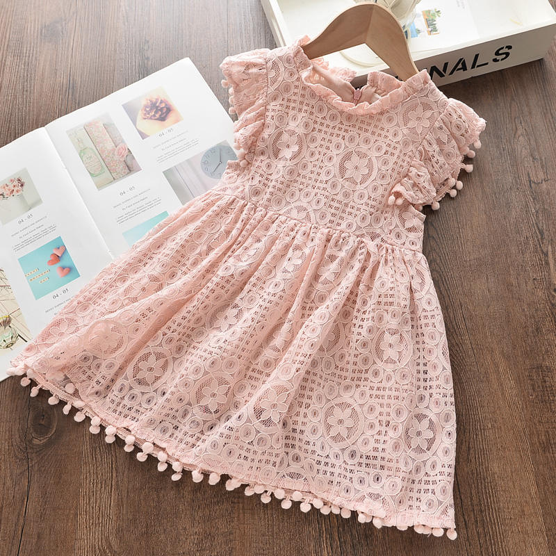 Bear Leader Girl Dress 2019 New Summer Brand Girl Dress Lace and Ball Design Party Dress