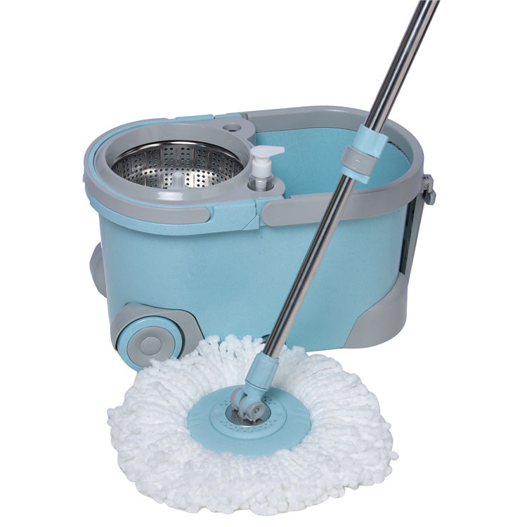 Deluxe Super Microfiber Cleaning Mop with Mop Bucket and Wheels
