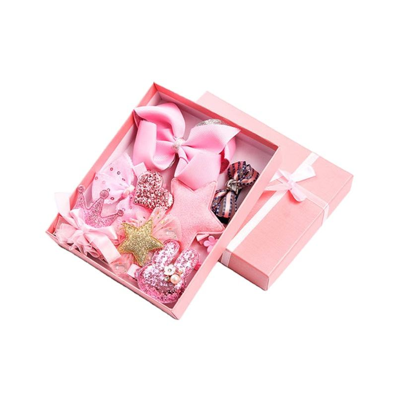 Zogifts New Product Baby Hair Accessories Box Girls Hair Kids Accessories Set Hairband For Baby Hair Clips