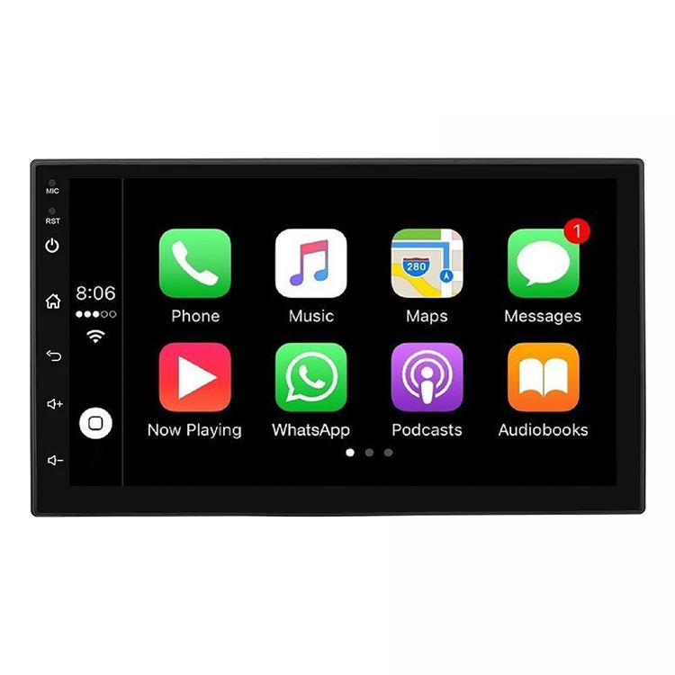 Autoradio 7 ''2 DIN GPS Navi Android 9.0 pour Apple Carplay et Android Auto AM/FM Autoradio multimédia Bluetooth Mirror link