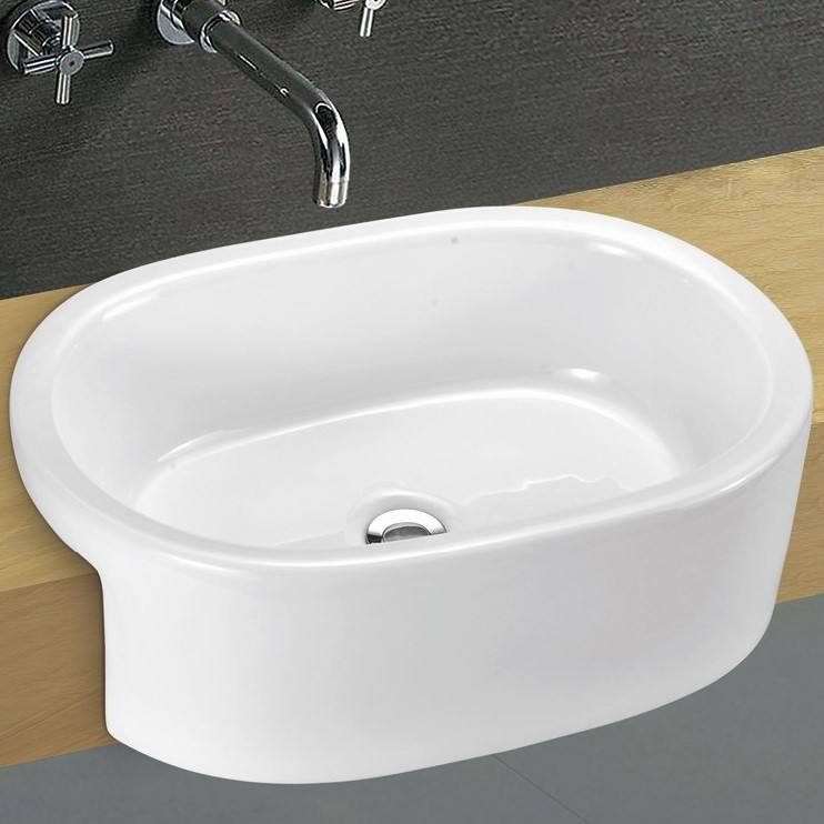A101 Sanitary Ware Bathroom Cheap Ceramic White Countertop Hand Wash Basin Matte Black Sinks Basin