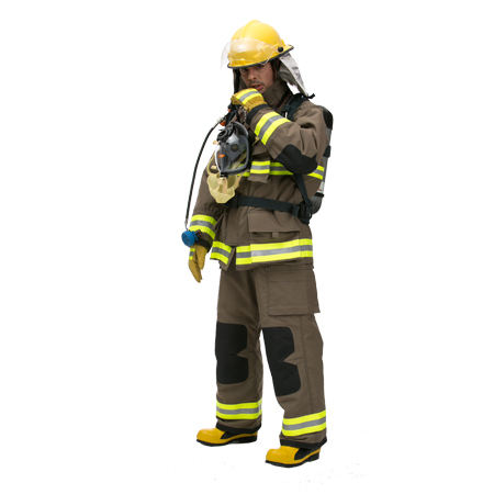 OEM CE EN469 Approved Fireman Nomex Fire Fighting Rescue Suit