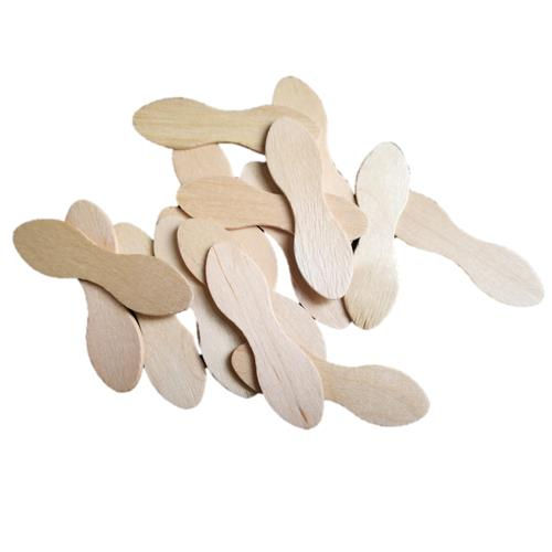 disposable hot-stamped 94mm birch wood ice cream spoons