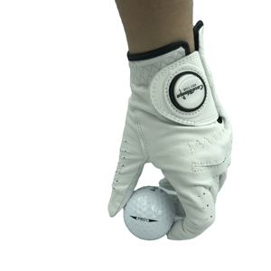 Multiple colors cabretta golf glove with magnetic customized ball marker for Lady