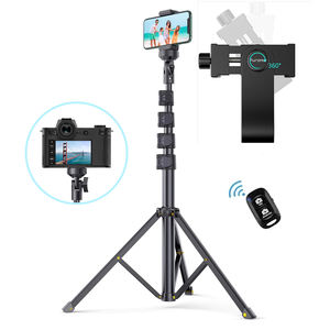 63 inch Selfie Stick Tripod, Detachable and Extendable Phone Tripod for Cell Phone, Compatible with iPhone and Android Phone