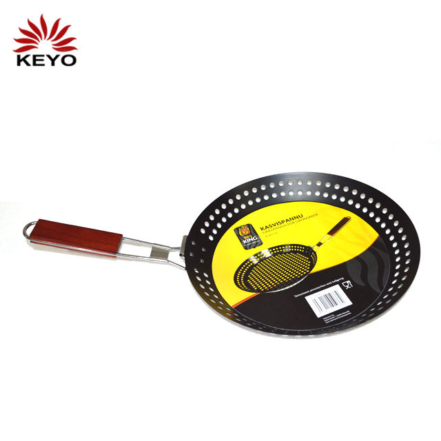 Bbq Grill Tools Durable Metal Non Stick Vegetable Basket Barbeque Topper Pan