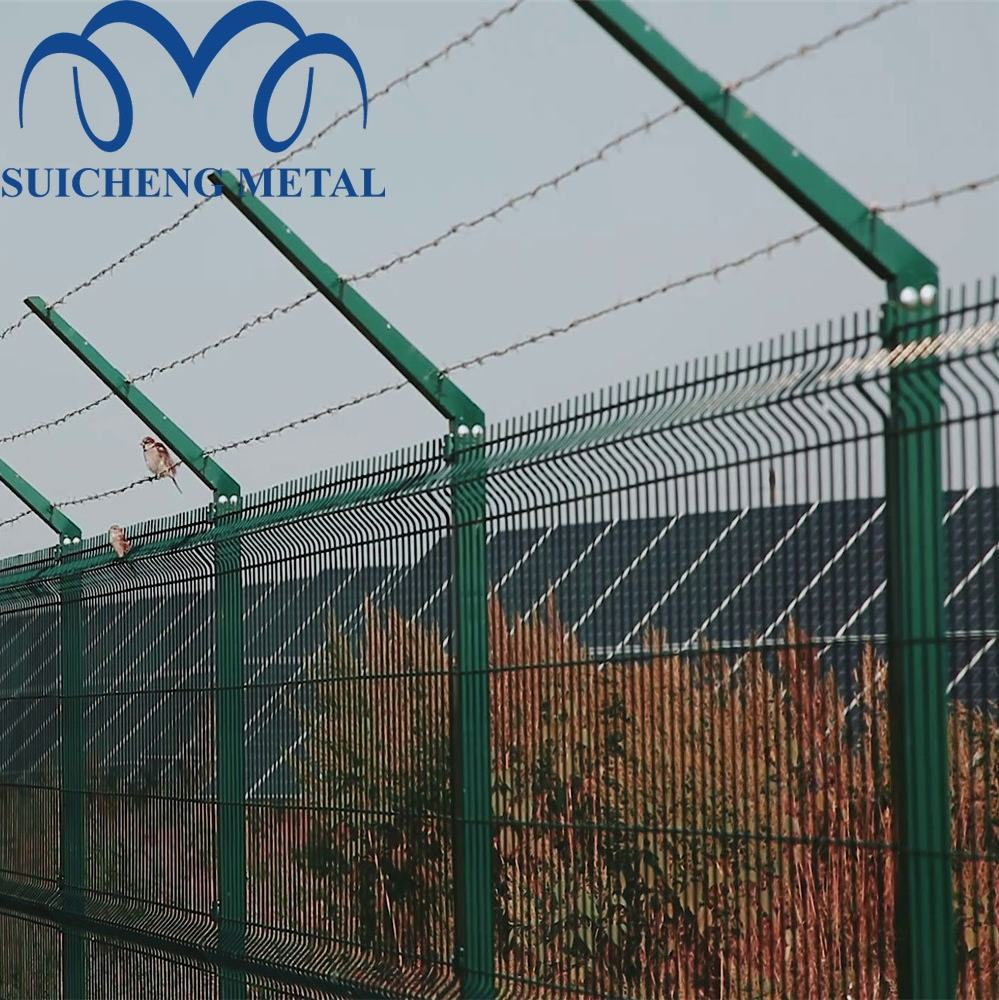 galvanized fence pole/welded wire fence clips/welded wire mesh fence panels