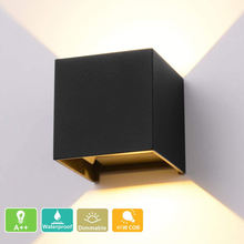 Modern Design Waterproof IP65 Aluminum Material 40w Surface Mount Square Stair Corner Indoor Outdoor Lighting Step Wall Light