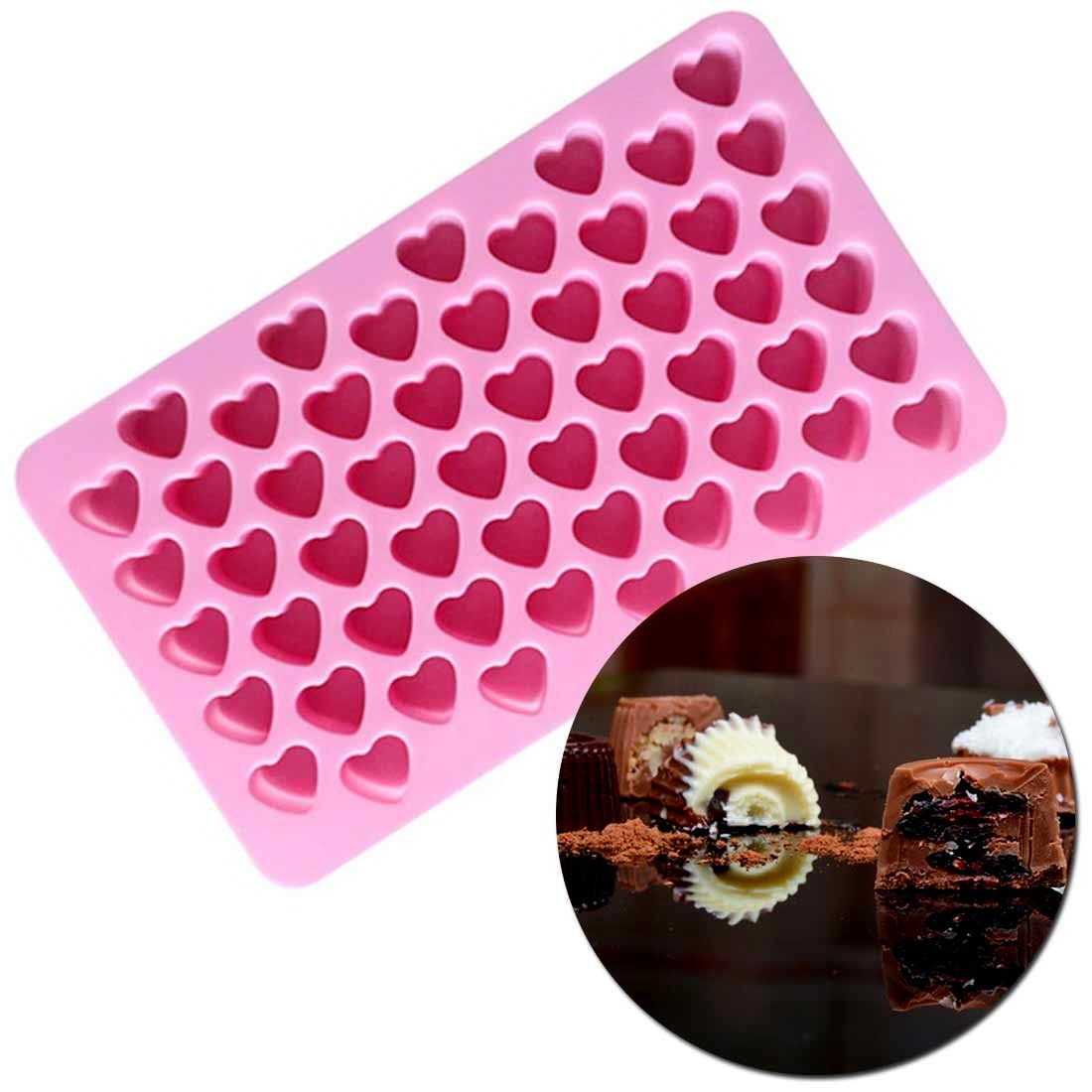 3D Cake Moulds Heart Shape Bakeware Candy Gummy TrayEasy Demoulding Silicone Chocolate Molds for Baking Letters Flower