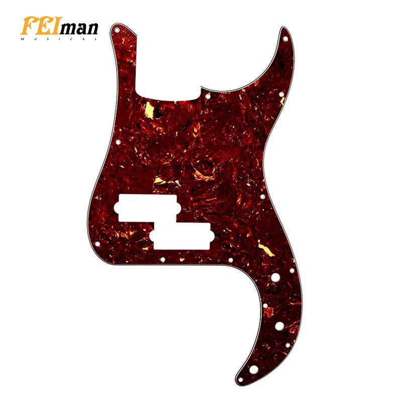 Pleroo 13 Holes USA/Mexico Standard P Bass Style Guitar Scratch Plate Without Truss Rod Hole Various colors Pickguard for Fender