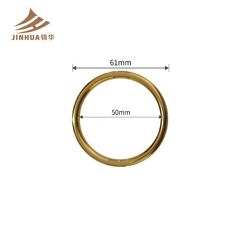 Plated Gold Color Adjuster 50mm inner Size Big O Ring For Bikini