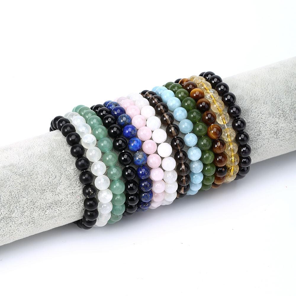 Expandable Bracelet Natural Healing Crystal Gemstone Christmas Male Jewelry Pyrite Bracelet In Bulk Expandable Men Couple Bracelets Women Charka