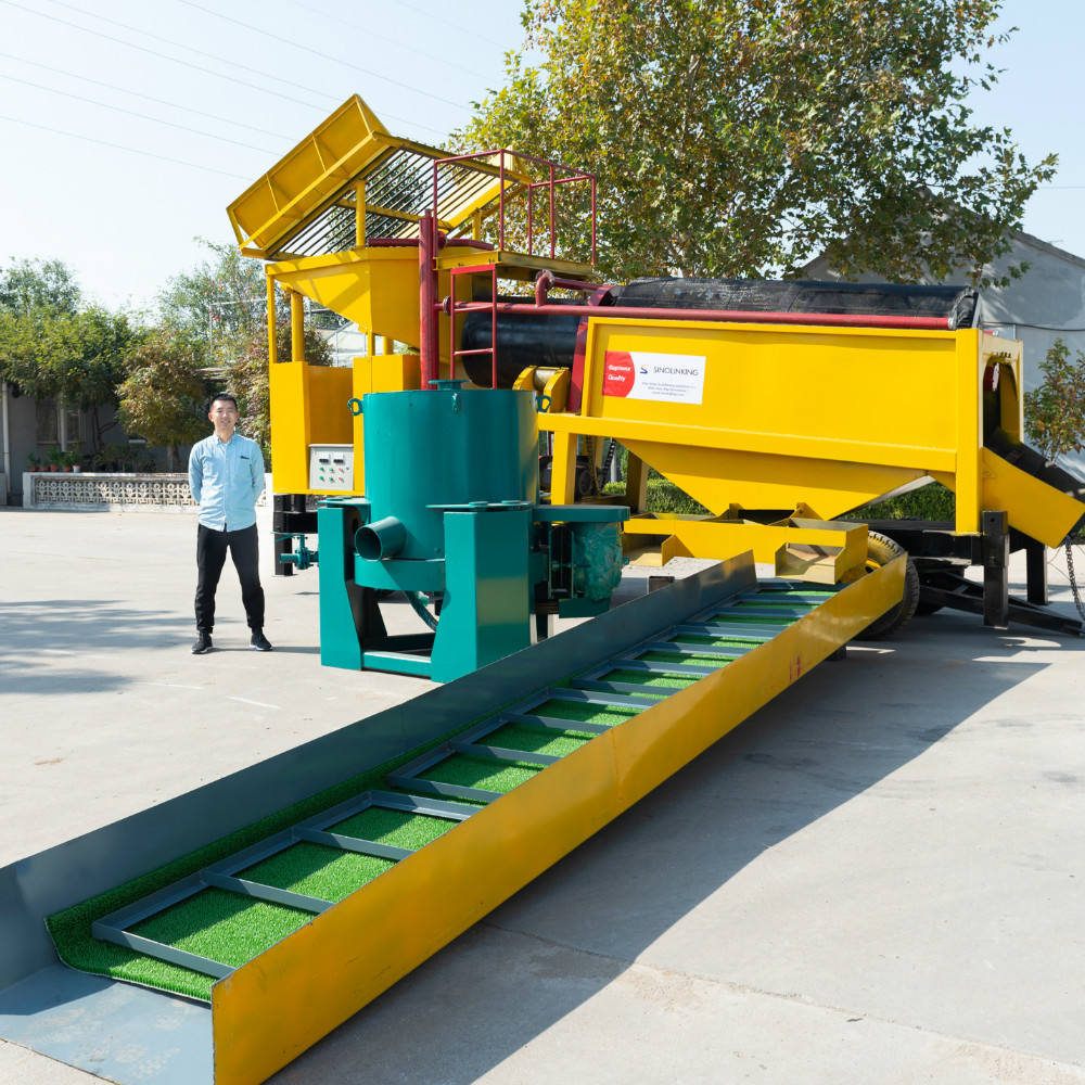 Africa popular small trommel 200 tph alluvial gold mine washing plant for sale