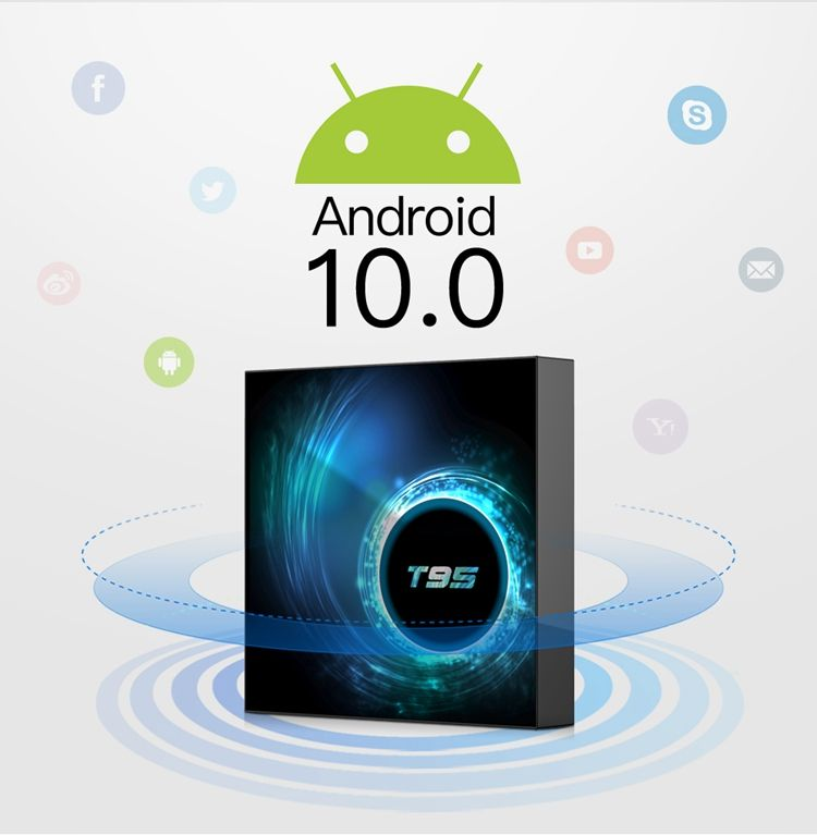 T95 Android 10.0 Os Allwinner H6 Quad Core 2.4G Wifi 100M Lan 6K Ultra Hd Android <span class=keywords><strong>Tv</strong></span> doos 2 Gb 16 Gb
