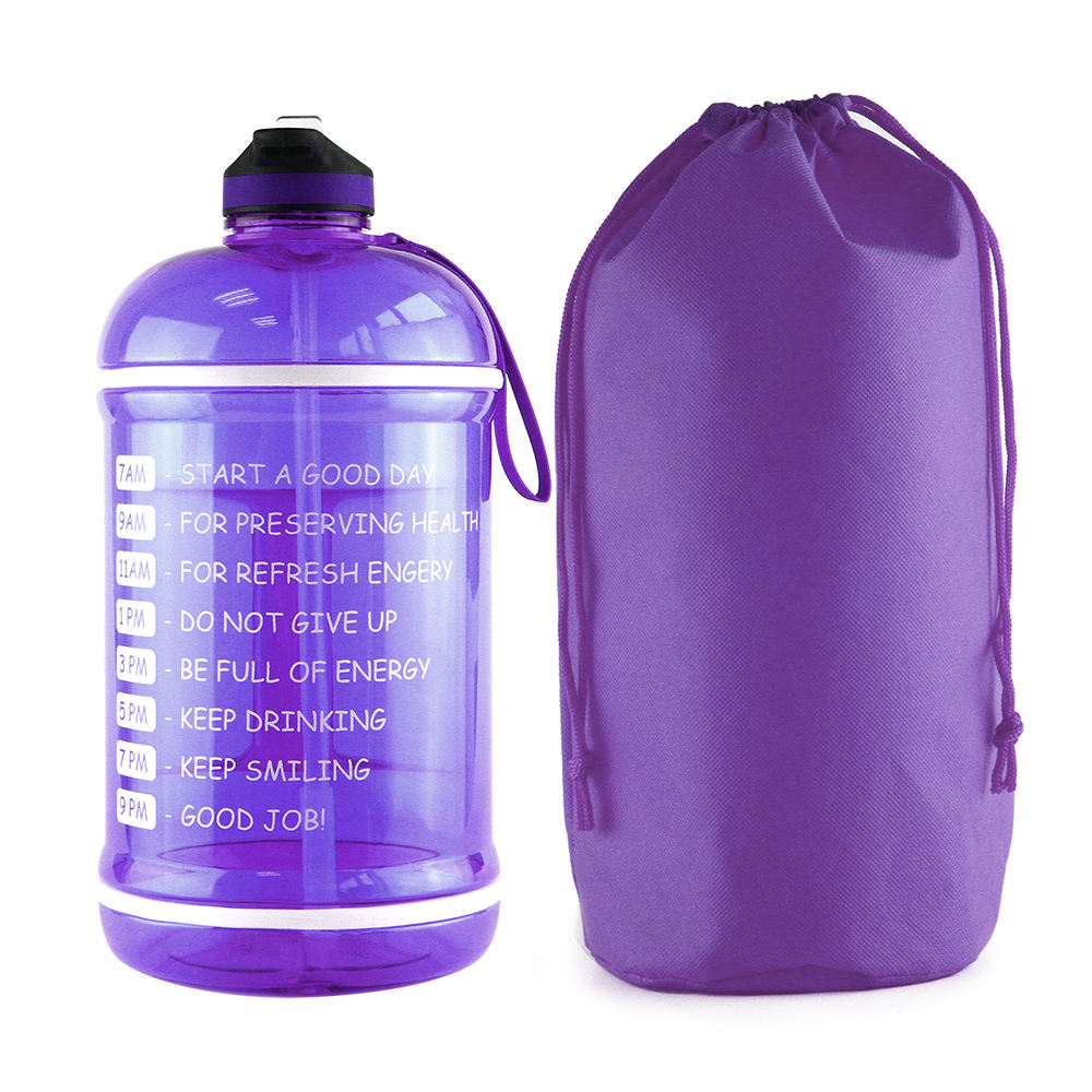 Free samples 1 gallon water bottle with time marker