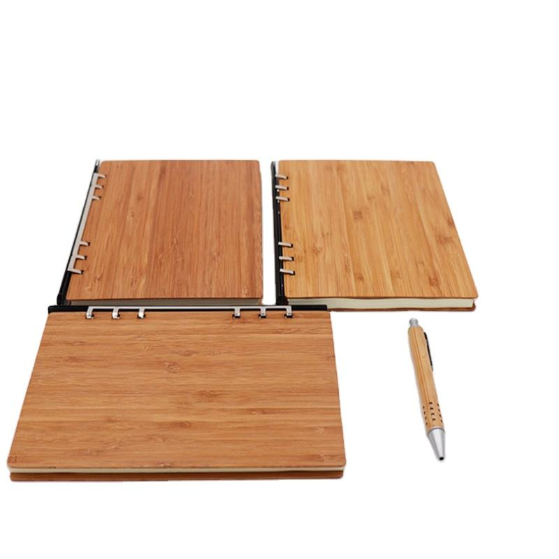 New Product Cheap Hardcover Eco Friendly Reusable Student Blank Bamboo Notebook