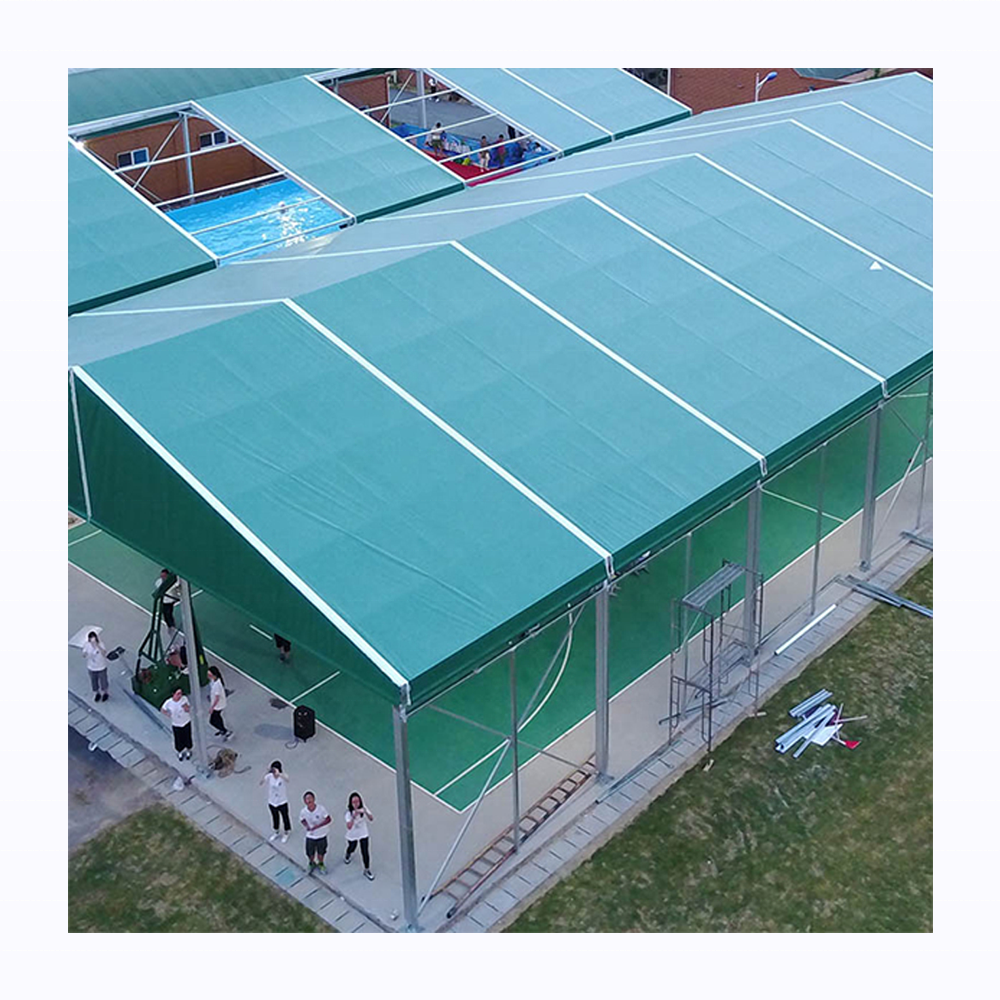 High quality waterproof exhibition commercial outdoor a frame tent for basketball