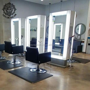 Hairdresser furniture set used hair salon equipment styling station stylist chair peluqueria saloon chairs