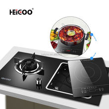 Built-In 2 Burners Detachable Smooth Electric Ceramic Gas Stove For Cooking