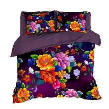 2020 New design comfortable 100 cotton material 3d  digital printed bed set duvet cover for bedding set