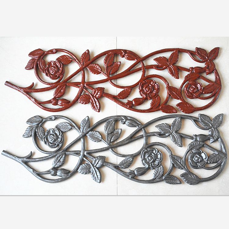 High quality manufacture cast iron parts and components sales wrought iron rosettes for gate fence garden