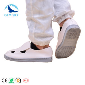PVC007 PVC Sole PVC Canvas Single Hole Anti Static ESD Shoes