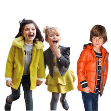 Customized wholesale children's boutique clothing child coat kid coat winter coat for boy and girl