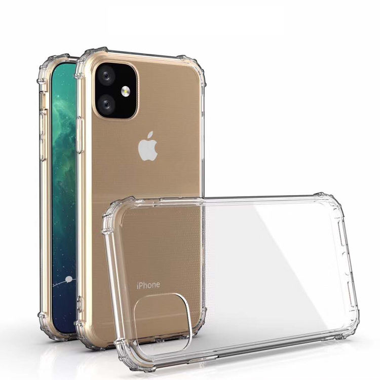 For iPhone 11 12 pro max Case Slim TPU Rubber transparent crystal Clear Custom Phone Case for iPhoneXs XS Max Xr