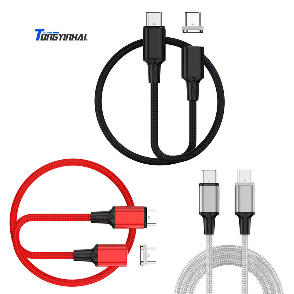 Newest PD 100W Fast Charge magnetic Data Cable Type c To Type-C PD USB-C Charger Cable