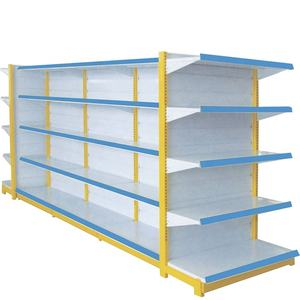 Double-sided Feature and Metallic Material Supermarket Shelf Gondola