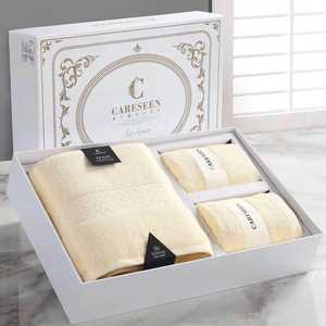 5 Star colourful 100% cotton hotel toalha de banho hand bath towel set in luxury gift box