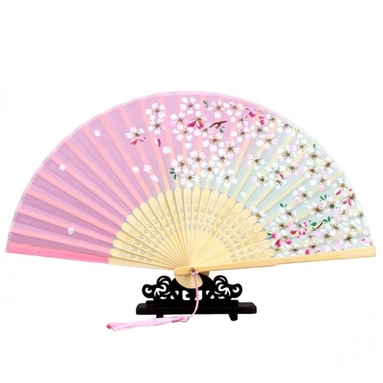 Personalized Custom Printed Portable Chinese Hand Fans Foldable Bamboo Hand Fan