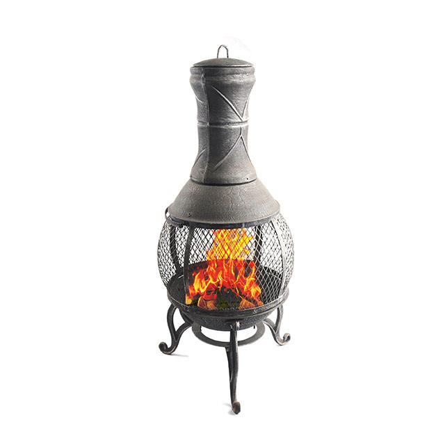 Outdoor Chimney Mesh Bronze cast iron Fire Bowl Fire Pit Garden Heater