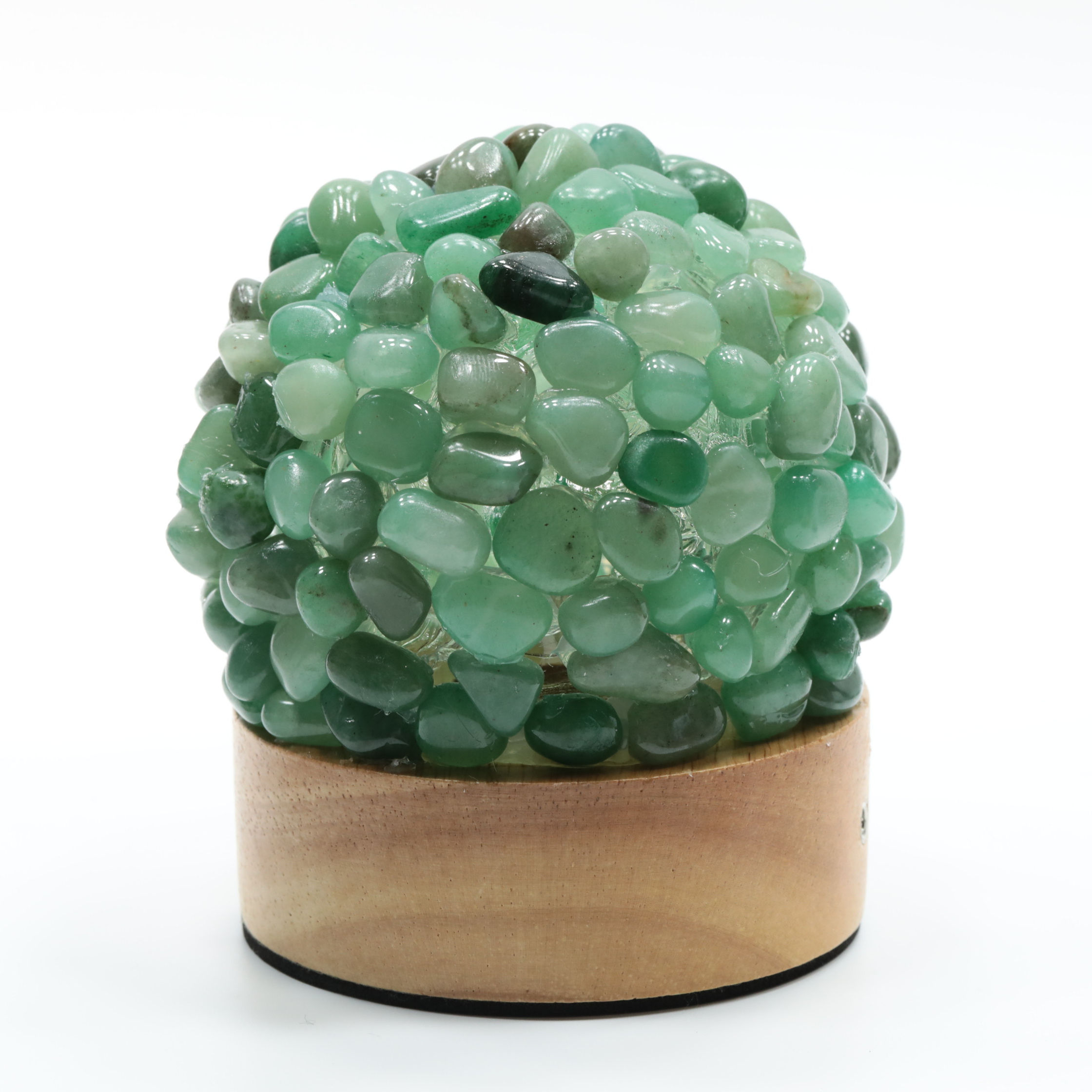 Living room furniture crystal table lamp green fluorite gravel crystal lighting for home decoration