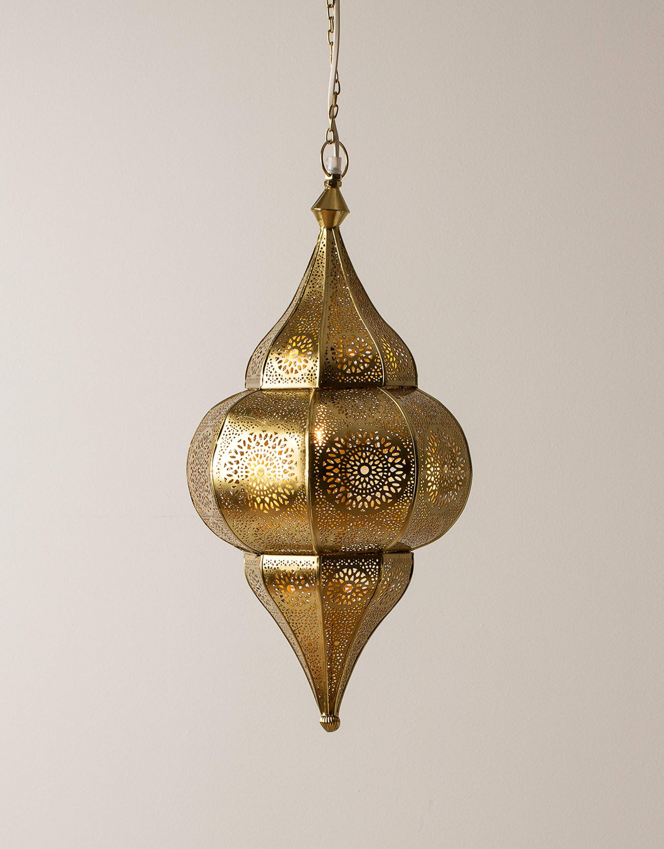 Hanging Fixtures China Moroccan Geometric Sphere Metal Hollowing Flower Arabic Design Ceiling Pendant Lighting