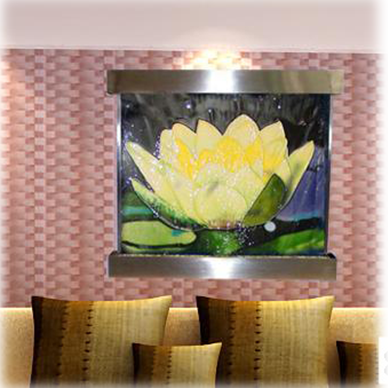 Integrity Good Quality Low Price Lotus Mural Water Flow Interior Decoration