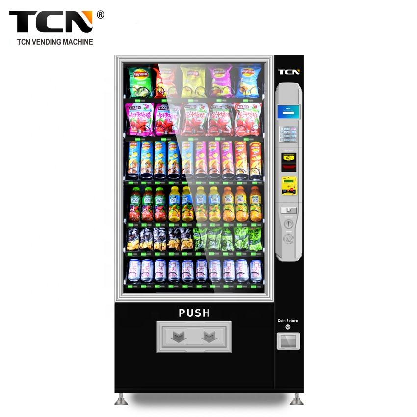 TCN smart 24 hours self-service automatic milk food snack drink vending machine with CE CB ISO9001