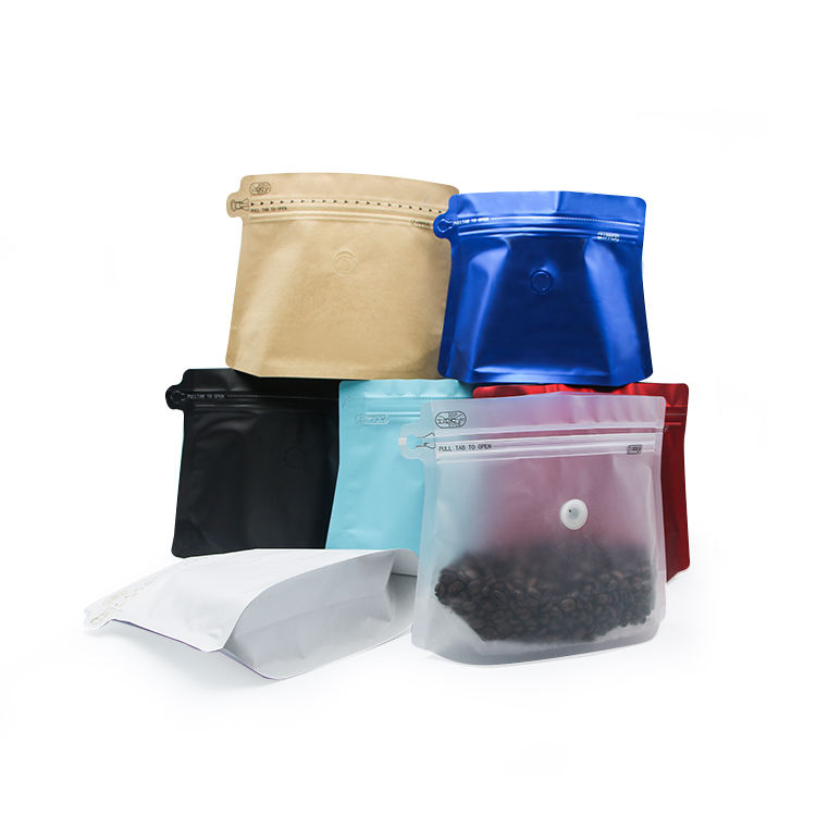 Eco food custom mylar ziplock stand up pouches black matt bag with aluminum foil for tea coffee packaging