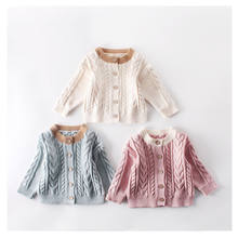 Wholesale kids sweater Infants & Toddlers baby sweater for girls knit sweater cardigan ENG002