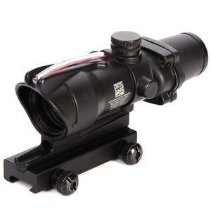 Tactical ACOG 4x32 Red Dot Faser Optische Jagd Scopes Anblick Zielfernrohr Vergangenheit 20mm Schiene Montieren Absehen Airsoft kollimator Anblick