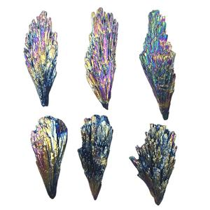 Natural quartz Mineral Rainbow Aura crystal Black Tourmaline stone