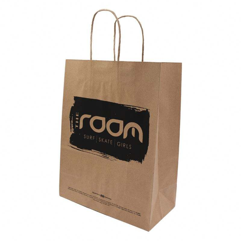 OEM Custom Cheap Kraft Shopping Paper tote Bag With Handle