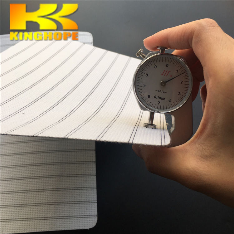 China supplier stripe recycled stitch bonded nonwoven fabric for shoes making