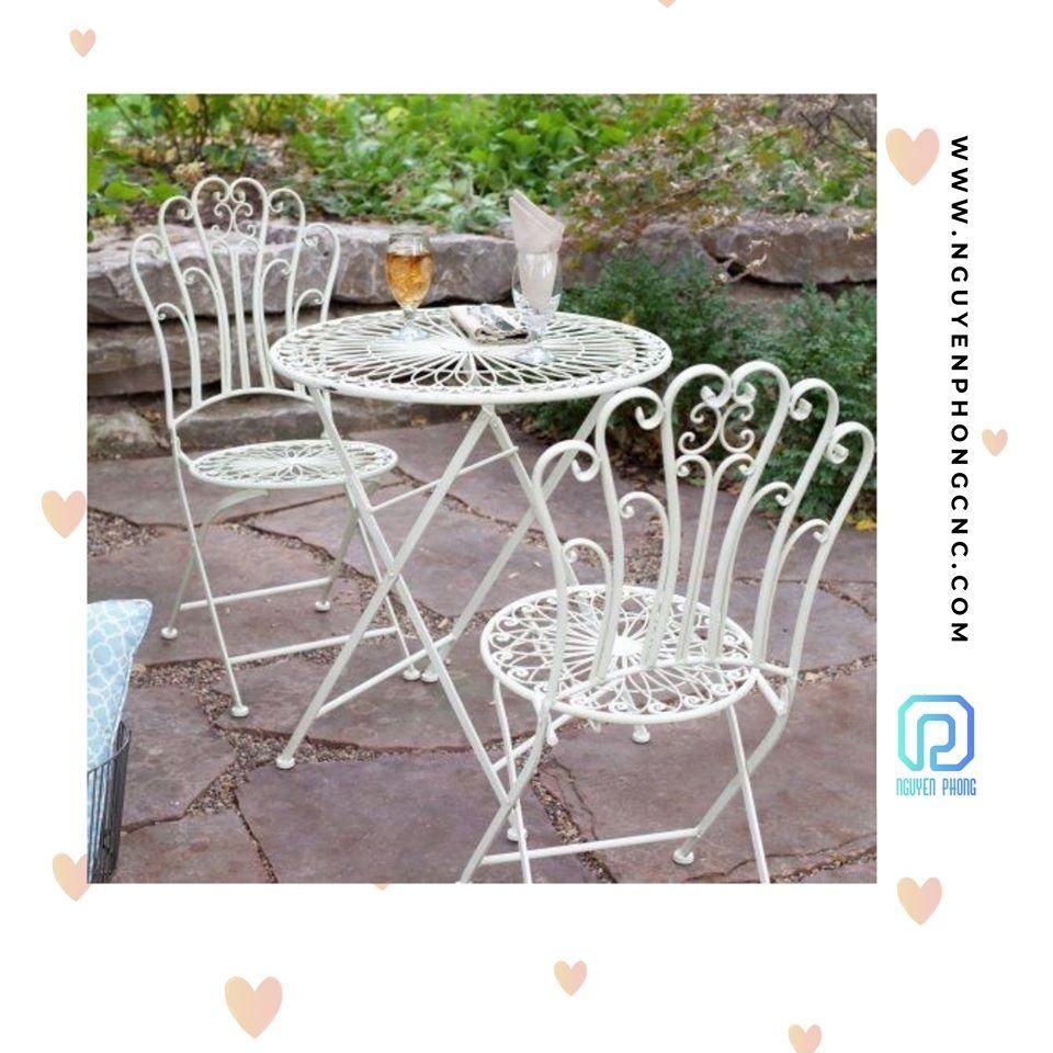 Artistic Iron Tables And Chairs For Garden from Vietnam