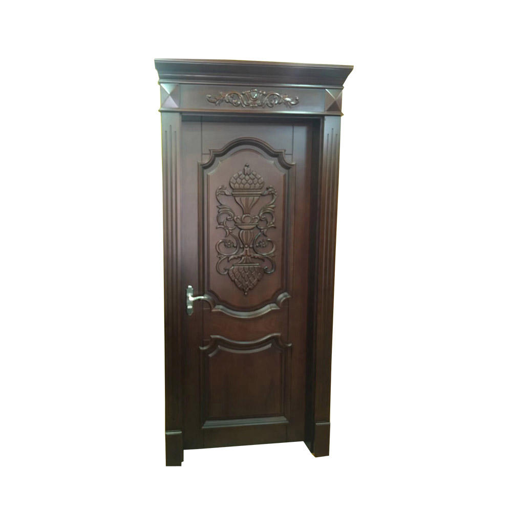 High Quality Popular Room Half Glass Solid Wood Bedroom Flush Wooden Door
